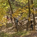 A family enjoying the dirt Freedom Trail. Dogs are allowed off leash at this section.- City Creek Canyon Road Cycling