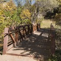 The bridge that connects the Freedom Trail to the paved path.- City Creek Canyon Road Cycling