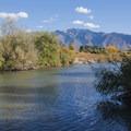 The Jordan River from the Jordan River Parkway.- Jordan River Parkway Road Cycling