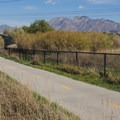 Looking east toward the Wasatch from the River Oaks section.- Jordan River Parkway Road Cycling