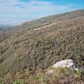 Looking down on Big Rock.- Mueller Park Trail Mountain Bike Ride to Big Rock