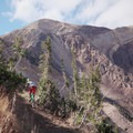 Dropping down from the top.- Big Mountain Trail Mountain Bike Ride
