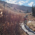 Ladder features over marshy areas.- Big Mountain Trail Mountain Bike Ride