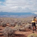 Looking north across the desert.- Hurricane Cliffs Mountain Biking: JEM
