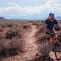 Looking south across the desert.- Hurricane Cliffs Mountain Biking: JEM