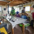 Hut life.- Brew Lake Hike to Brew Hut