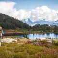 Hiking back down toward Brew Lake.- Brew Lake Hike to Brew Hut