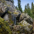 There are several sections of scrambling across boulder fields.- Brew Lake Hike to Brew Hut
