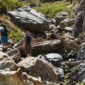 A pair of hikers on a weekend in Big Cottonwood. - Stairs Gulch Hike
