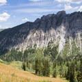 Reed and Benson Ridge from the slopes just below Carbonate Pass.- Kessler Peak Loop Hike via Carbonate Pass
