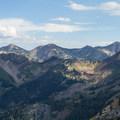 FromLooking south from Kessler Peak across Cardiff Fork to the peaks of Alta and Snowbird. From left to right: Devil's Castle, Sugarloaf Peak, Mount Baldy, Hidden Peak (note the Snowbird tram and restaurant), American Fork Twin Peaks.  - Kessler Peak Loop Hike via Carbonate Pass