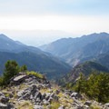 The Salt Lake Valley and the mouth of Big Cottonwood Canyon from Kessler Peak.  - Kessler Peak Hike via the North Route