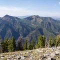 Mount Raymond (10,241 ft), left, and Gobblers Knob (10,246 ft).   - Kessler Peak Hike via the North Route
