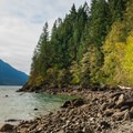 The north beach is wilder than the south.- Gold Creek Campground