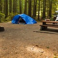 The sites are large and all have fire pits and picnic benches.- Gold Creek Campground