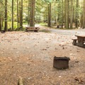 Big double sites.- Gold Creek Campground