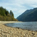 The main beach.- Gold Creek Campground