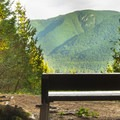 There are a couple of benches and a lookout at the high point of the trail.- Menzies Trail Mountain Bike Ride