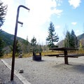 Typical campsite at Cottonwood Lake Campground.- Cottonwood Lake Campground