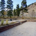 An elevated site at Cottonwood Lake Campground.- Cottonwood Lake Campground