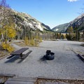 Typical site at Cottonwood Lake Campground.- Cottonwood Lake Campground