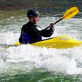 Kayaker in the Buena Vista Whitewater Park.- Arkansas River Trail Hike