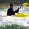 Kayaker in the Buena Vista Whitewater Park.- Arkansas River Trail Hike