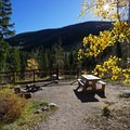 Campsite at Fulford Cave Campground.- Fulford Cave Campground