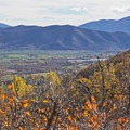 Looking down on the town of Midway, Utah.- Dutch Hollow Trail System Mountain Biking