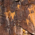 The Fremont people created this rock art over 900 years ago.- McKee Springs Petroglyphs + Island Park