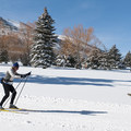 Cross-country skiing can be done on the bike path in the winter.- The McPolin Farm