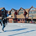 Park City Mountain Resort has an outdoor ice skating rink just down the road from the McPolin Barn.- The McPolin Farm