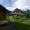 Lodge cabins along the trail to Wonder Pass.- Lake Magog Hike via Bryant Creek + Wonder Pass