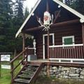 Warden Cabin on the edge of the Bryant Creek Meadow.- Lake Magog Hike via Bryant Creek + Wonder Pass