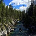 Another view of Bryant Creek nearing the Mount Shark Trailhead.- Lake Magog Hike via Bryant Creek + Wonder Pass