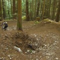 Through S turns.- Diamond Head Mountain Bike Trails: Half Nelson + Full Nelson Loop