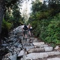 A section where they have built in steps.- Eagle Bluffs Hike, Cypress Mountain