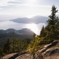 Looking west toward Bowen Island and the Sunshine Coast.- Eagle Bluffs Hike, Cypress Mountain