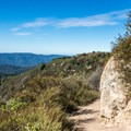 Views of the Santa Cruz Mountains on the Saratoga Gap Trail.- Saratoga Gap, Ridge Trail + Castle Rock Loop Hike