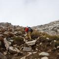 Contributor John Badila nearing the top.  - Pfeifferhorn Peak Climb