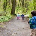 Hike it Baby group on the trails.- Tryon Creek State Park