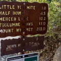 An earlier reminder that it's still a long way to go to Mount Whitney.- John Muir Trail Section 1