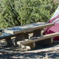 A little shade from the harsh daylight.- North Fruita Desert Campground, 18 Road Camping