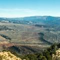 Iron Springs Bench overlook.- Harpers Corner Trail
