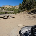 Fire pits and tables are the basics here.- North Fruita Desert Campground, 18 Road Camping