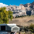 Green River Campground is a scenic and remote spot.- Green River Campground