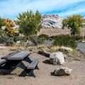 There are views of Split Mountain from most sites.- Green River Campground
