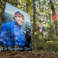 Duncan Mackenzie memorial.- South Whistler Mountain Bike Trails: It's Business Time (Duncan's Trail)