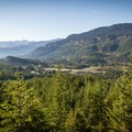 Looking down over Cheakamus Crossing from the second viewpoint- South Whistler Mountain Bike Trails: It's Business Time (Duncan's Trail)