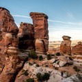 The red sandstone rocks are typical of Colorado National Monument.- Devils Kitchen Hike